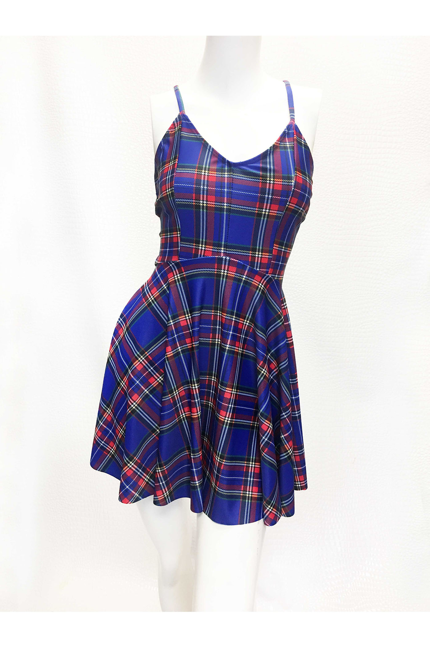 Rebel Yell Punk Rock Plaid Dress Kelly Maglia